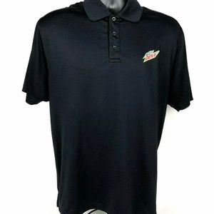 Mountain Dew Under Armour Black Golf Polo Shirt